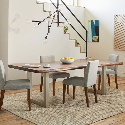 live edge wood dining table | west elm | dining tables & chairs