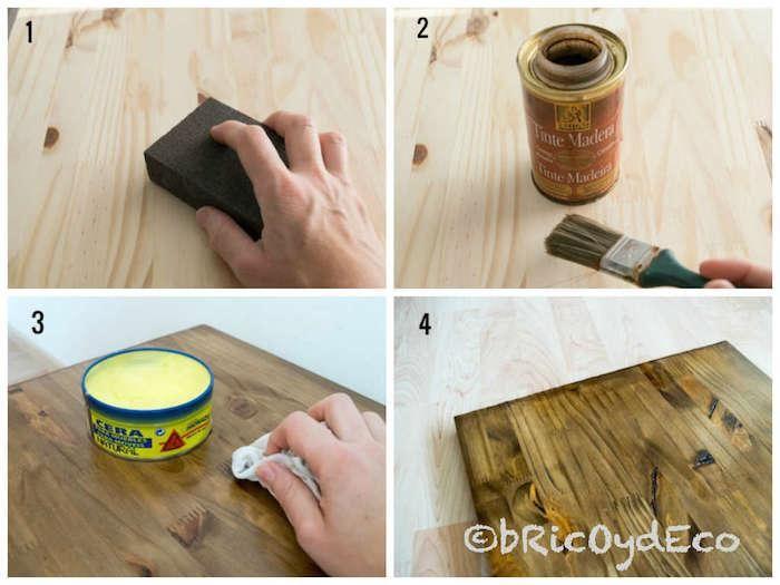 Aprende A Aplicar Un Acabado A La Cera A Un Tablero De Pino Cera Para Muebles Como Pintar Madera Tinte Madera