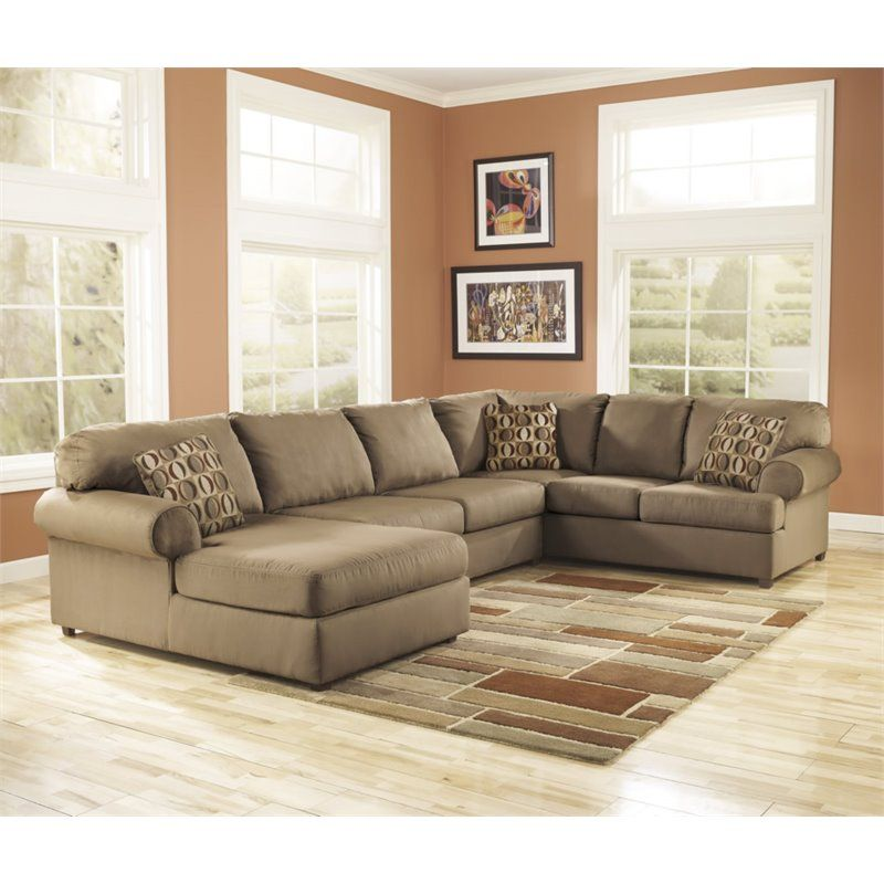 Ashley Furniture Cowan 3 Piece Left Chaise Sectional Sofa In Mocha Small Sectional Sofa Sectional Sofa With Recliner Couch Design