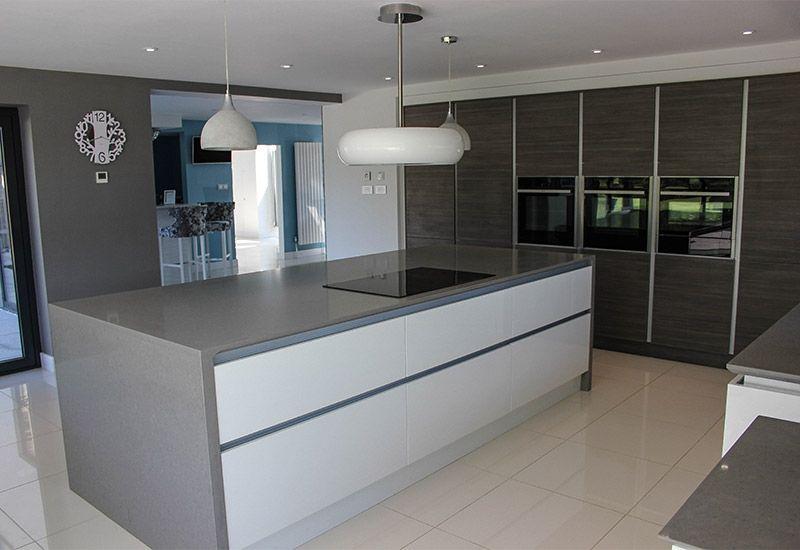 Best Lumina White H Line With Sierra Grey Avola Kitchen 400 x 300