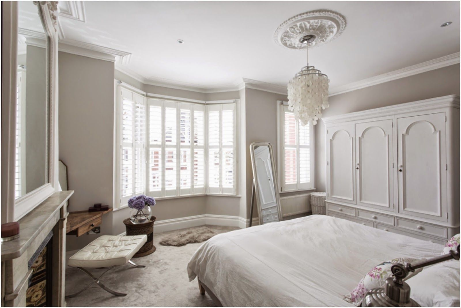 Bedroom Complete Farrow Ball Cornforth White Walls