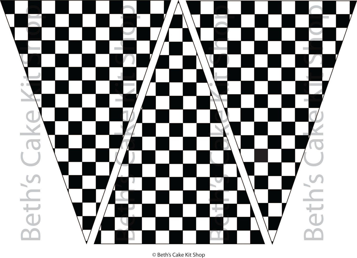 Checkered Flag Bunting Banner Download Party Backdrop In 2020