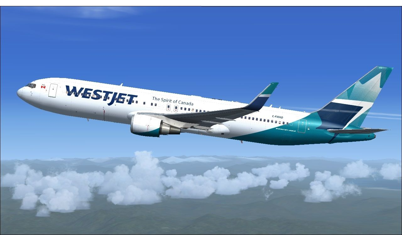 FS2004/FSX Westjet Boeing 767-338ER(WL) (4) | Microsoft Flight