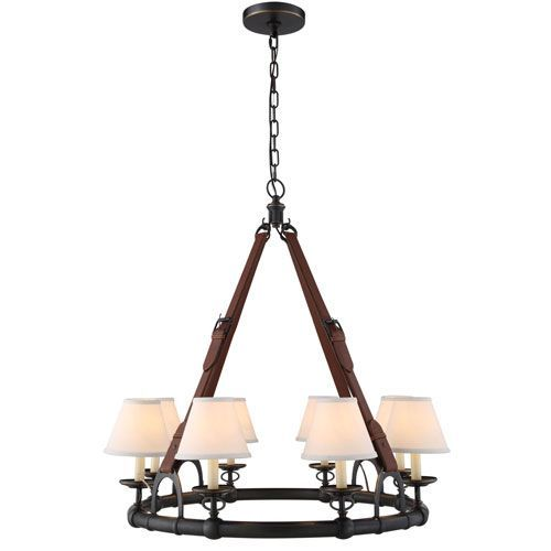 Cascade Bronze Eight-Light Chandelier