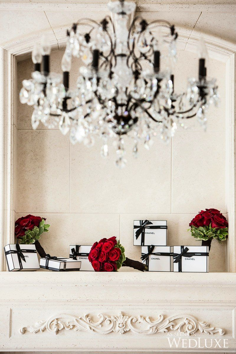 WedLuxe – A Romantic Red, Ivory, and Gold Wedding | Photography by ...