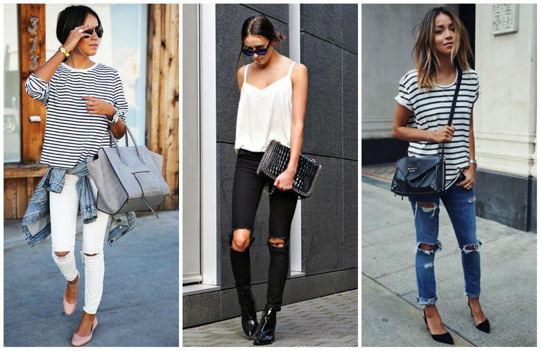 Modne Spodnie Z Dziurami I Przetarciami Fashion Women S Top Women
