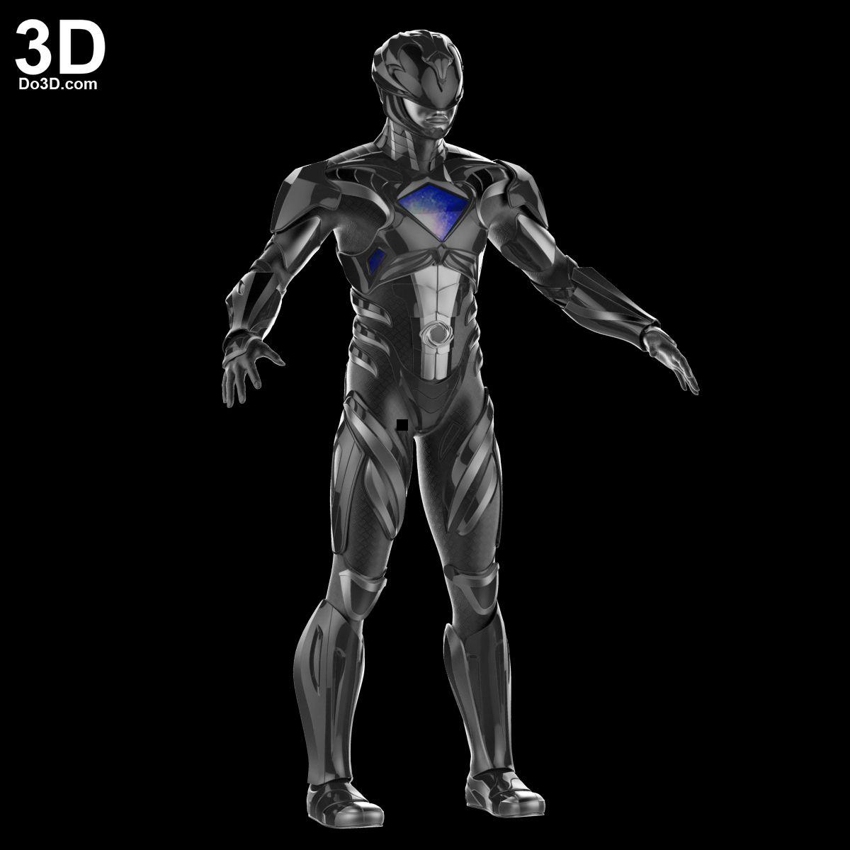 3D Printable Model: Black Ranger Helmet And Full Armor