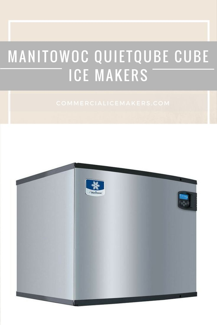 Started In 1964 Manitowoc Ice Inc Is A Wisconsin Us Based Restaurant Equipment Manufacturer They Are Well Known Ice Machine Ice Maker Commercial Ice Maker