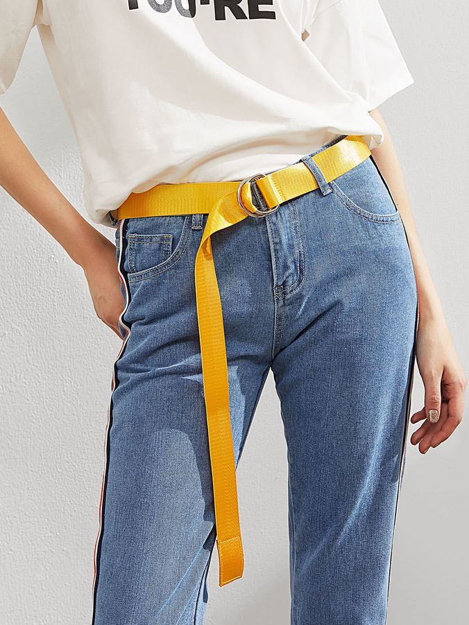 87793477fb Shein Simple Belt With Double D Ring | Outfits | Fashion belts ...