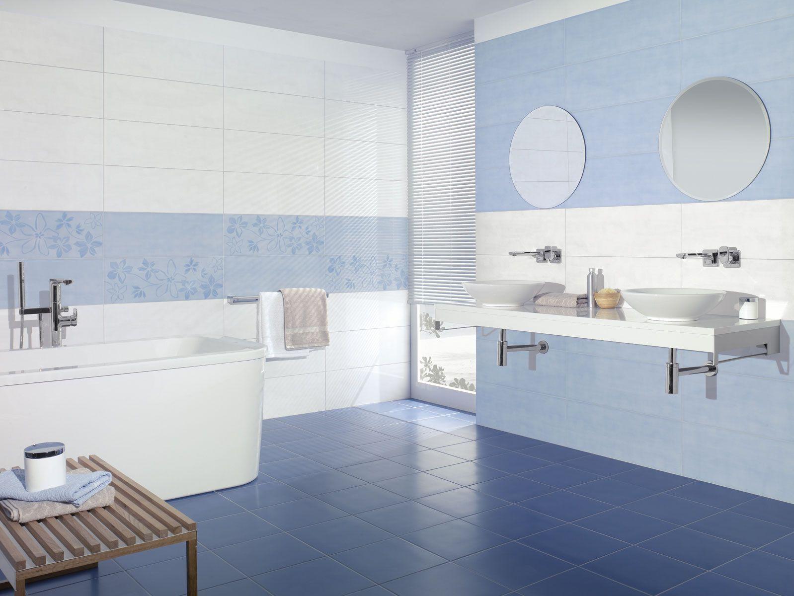 salle de bain bleue villeroy et boch