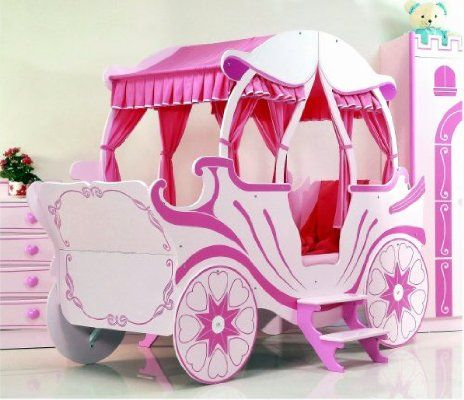 Kinderbett auto mädchen  Bett Kutsche pink Kinderbett Mädchen und Prinzessin | Kinderzimmer ...