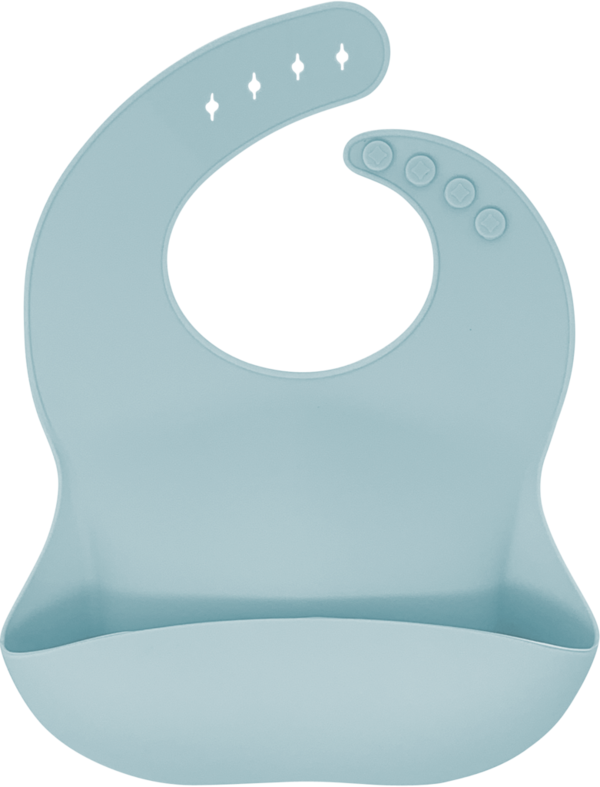 Animal Design Kids Baby Bib Waterproof Silicone Bibs Wipe Roll up Carry Bag O