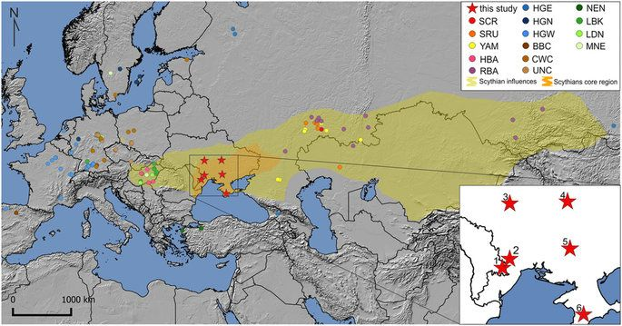 Diverse Origin Of Mitochondrial Lineages In Iron Age Black Sea