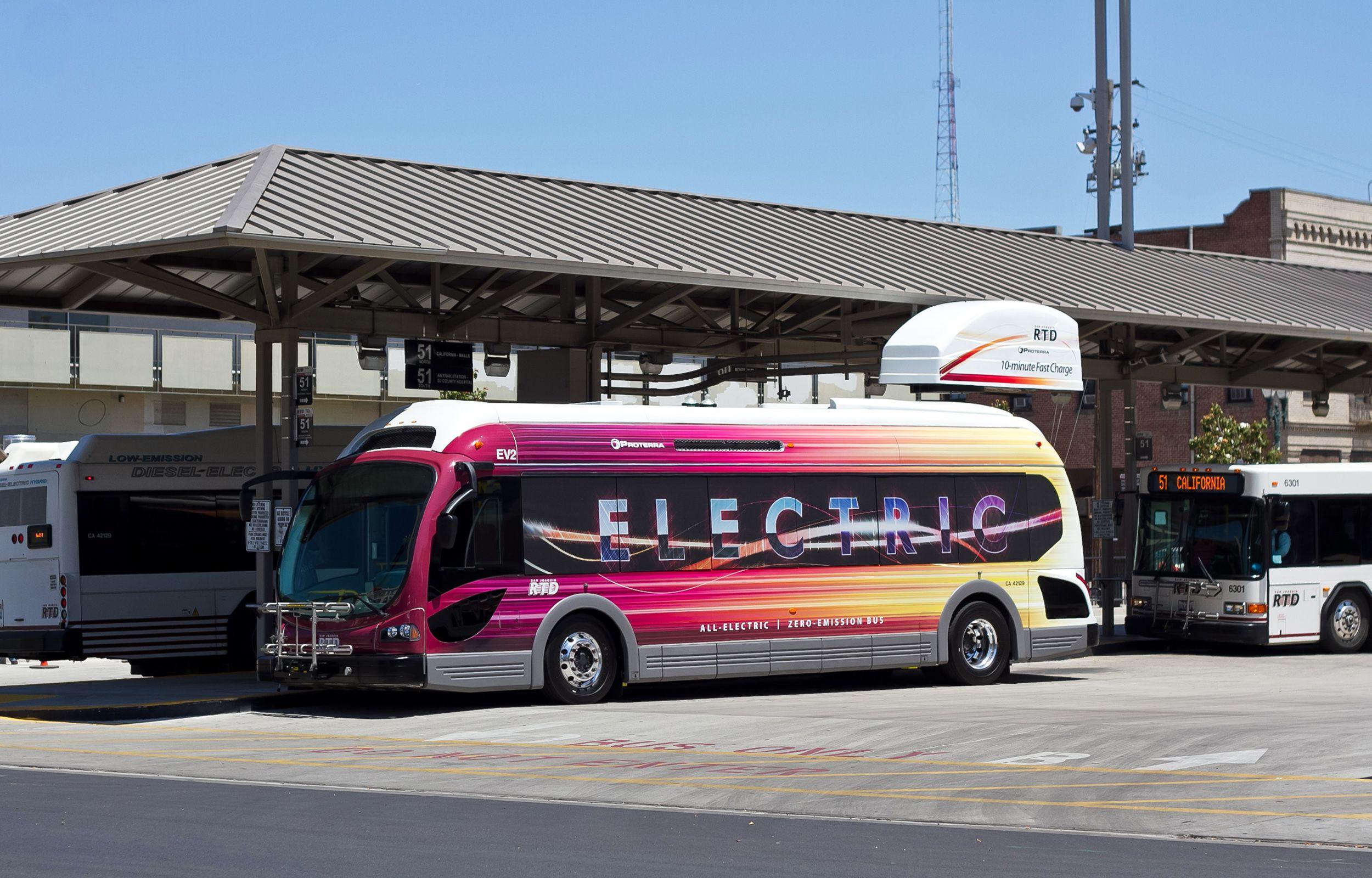 Electric Bus Bus Electricity Bike Lane