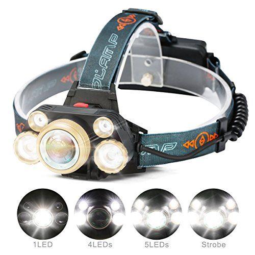 LED Headlight Headlamp Flash Light Camping Head Lamp Bright Optical Flash Strap