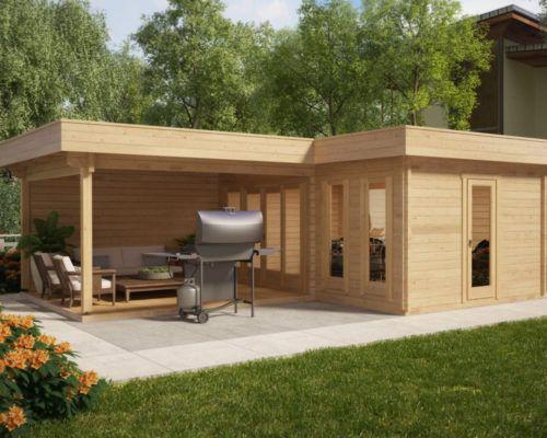 eck gartenhaus hansa corner b 18m2 44mm 3x6 tiny houses pinterest gartenh user. Black Bedroom Furniture Sets. Home Design Ideas