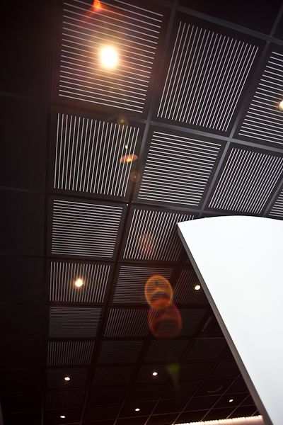 Sonaris Black Over Grey Perforated Acoustic Ceiling Tiles