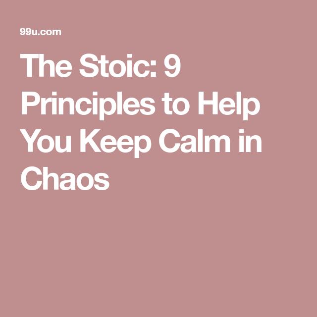 stoicism the philosophy of calmness