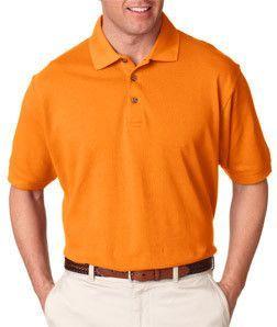 8535 UltraClub Men's Classic Piqué Polo Tangerine