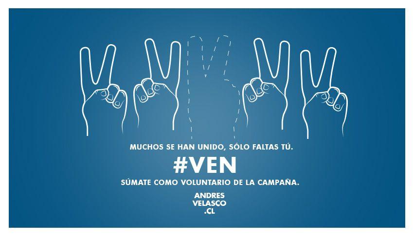 Súmate como voluntario en de la campaña en www.andresvelasco.cl