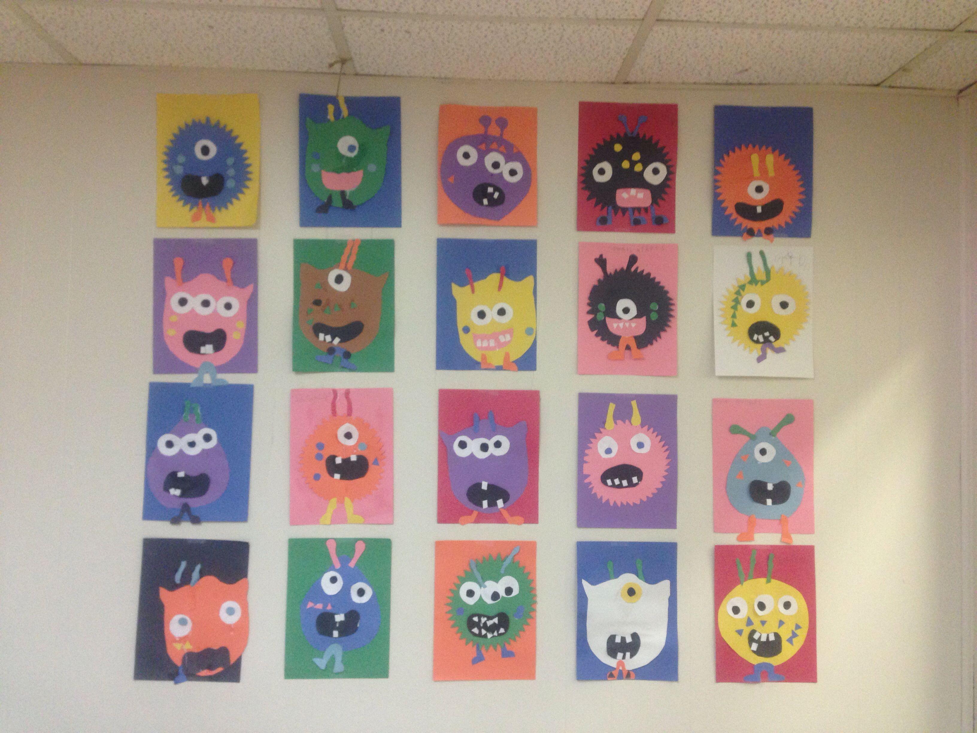 Preschool Monster Craft Classroom Stuff Pinterest Preschool
