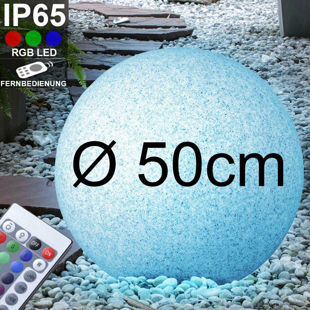 Rgb Led 7 Watts Boule De Jardin Pierre Granit Lampe Exterieure Telecommande Lamp Lampe Exterieur Led