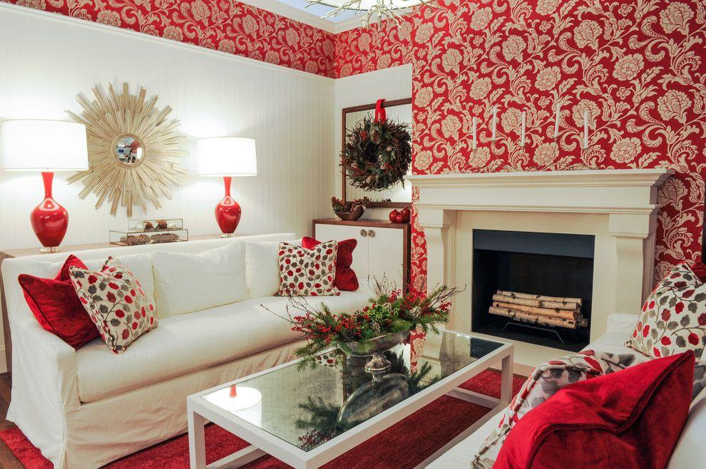 Superior Red Wallpaper Bedroom Ideas Part - 8: Wallpaper · Red Living Room ...