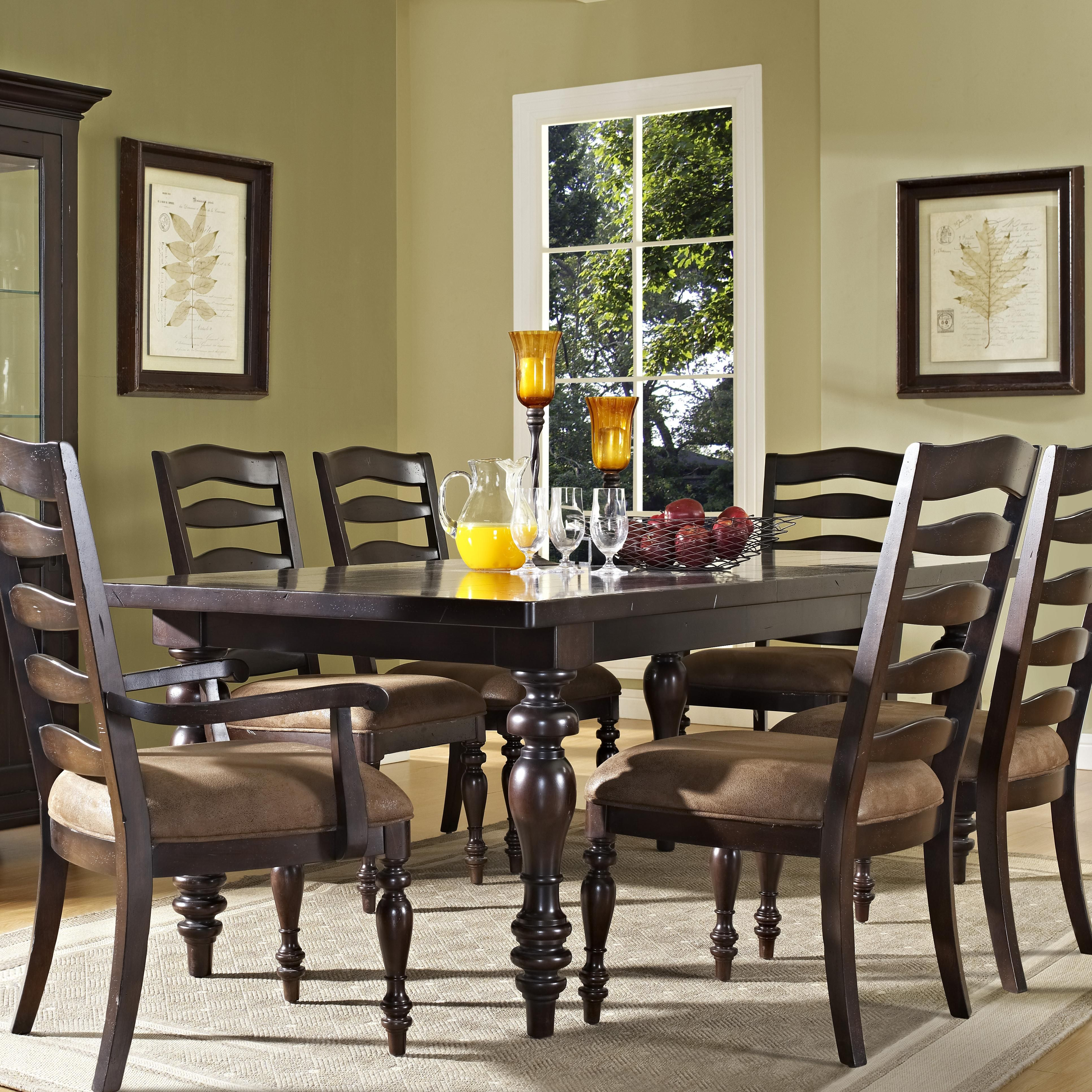 Wedgewood 4 Turned Leg Dining Table And Chairs By Pulaski Furniture