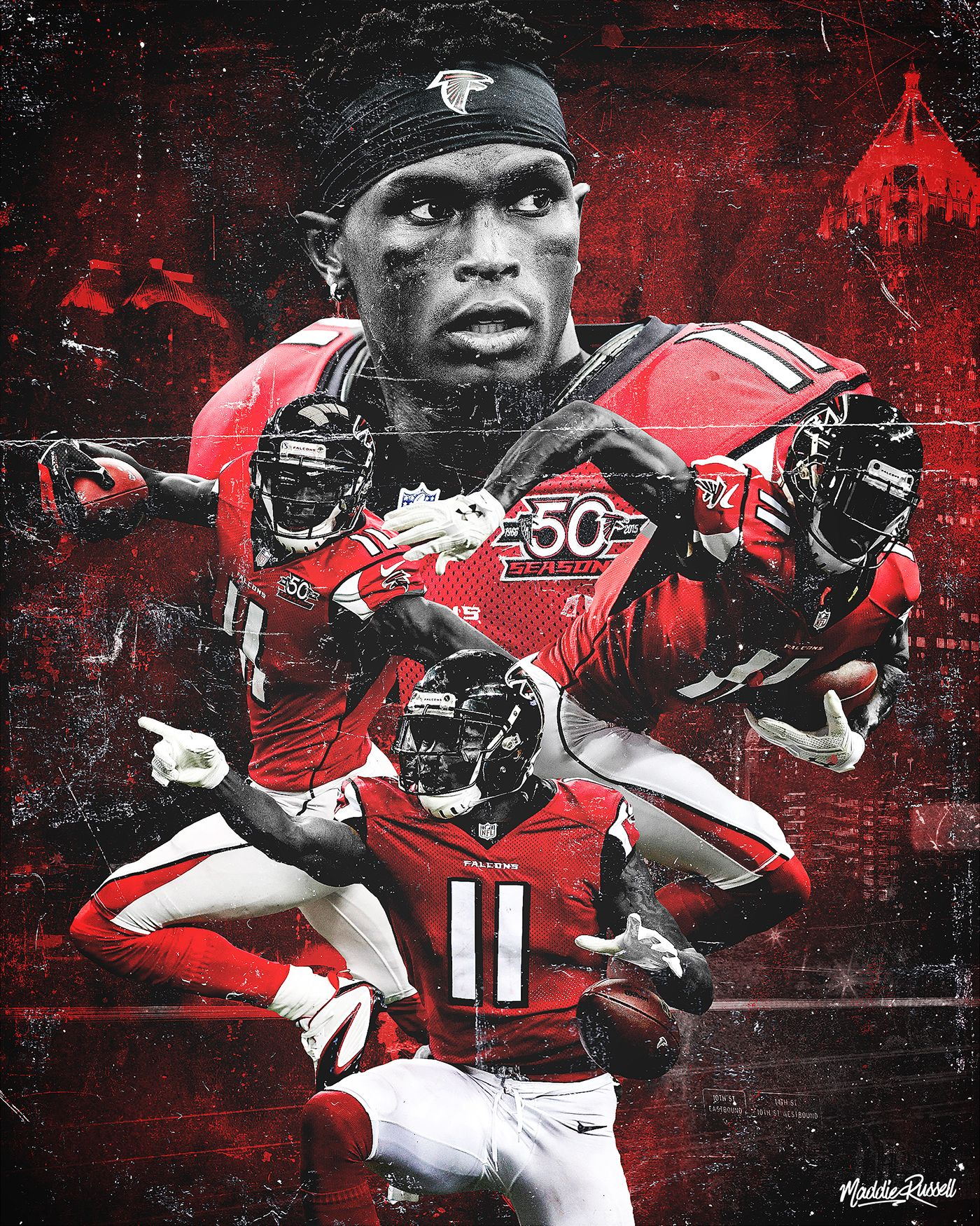 Julio Jones On Behance Julio Jones Atlanta Falcons Nfl Football Wallpaper