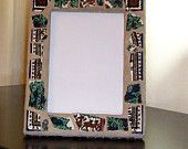 Deer in Forest Mosaic Picture Frame