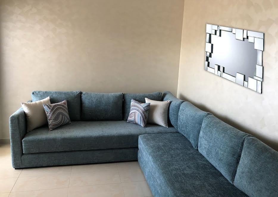 salon moderne salon bleu moderne