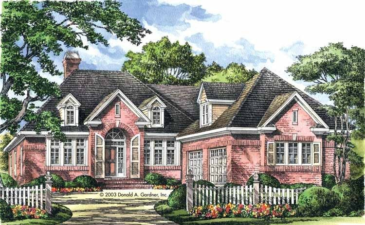 New American House Plan With 2233 Square Feet And 3 Bedrooms From Dream Home Source House Plan Code Dhsw41909 American Houses House Plans House