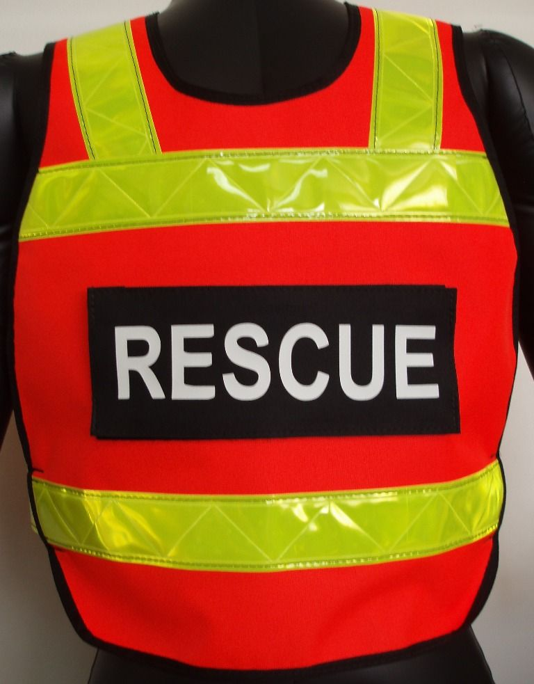 Ansi class ii pull over rescue vest from