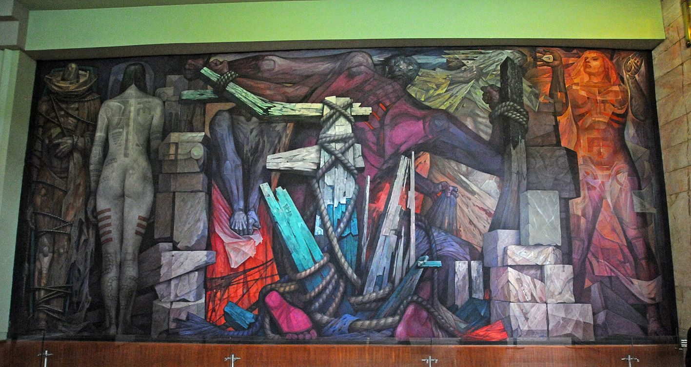 Liberacion jorge gonzalez camarena 1963 palacio de for Arte mural mexicano