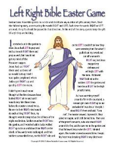 Amazon printable christian easter bible left right gift easter according to peter left right bible easter game children have gifts and pass them left or right as you read the easter story negle Gallery