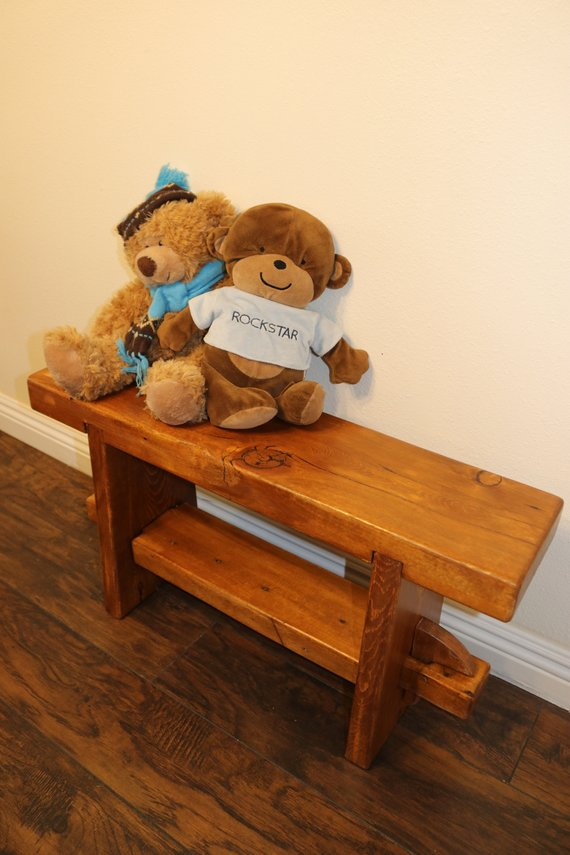 Pleasant Wooden Bench Reclaimed Bench Childrens Bench Rustic Theyellowbook Wood Chair Design Ideas Theyellowbookinfo