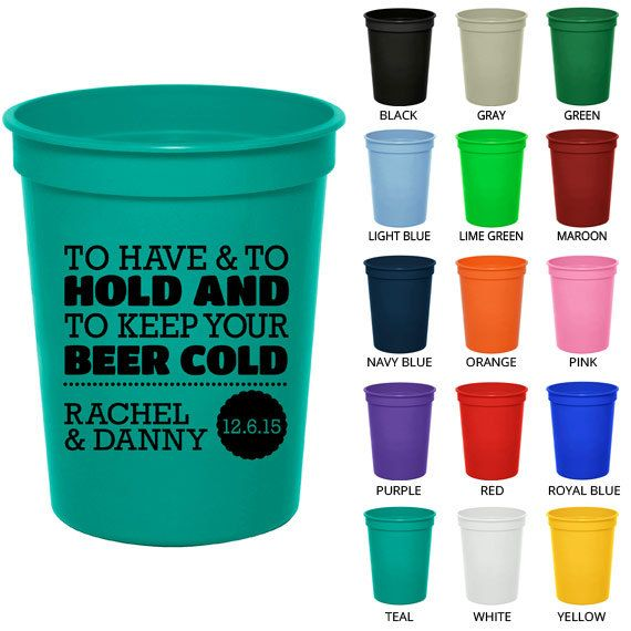 Personalized Plastic Cups Clipart 1807 To Have And Hold Custom Party Wedding Stadium