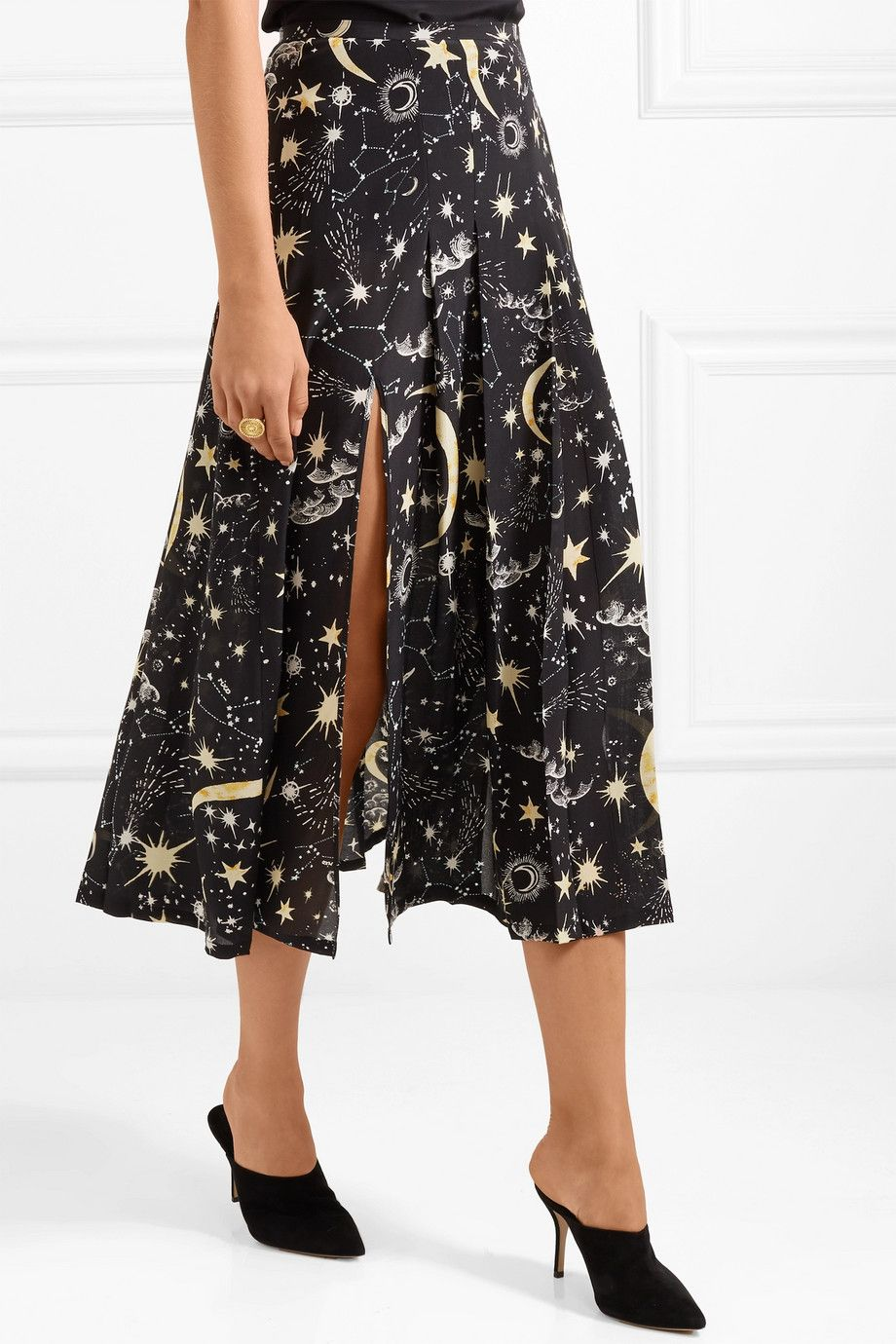 79014d7d1726 RIXO London | Georgia pleated printed silk crepe de chine midi skirt |  NET-A-PORTER.COM