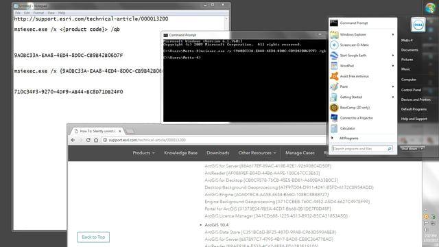 Silent uninstall of ArcGIS from Windows Machine | Geospatial