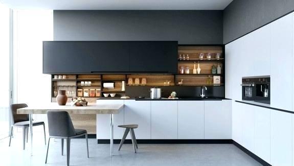 Modern White Kitchens Modern Black And White Kitchen Black White
