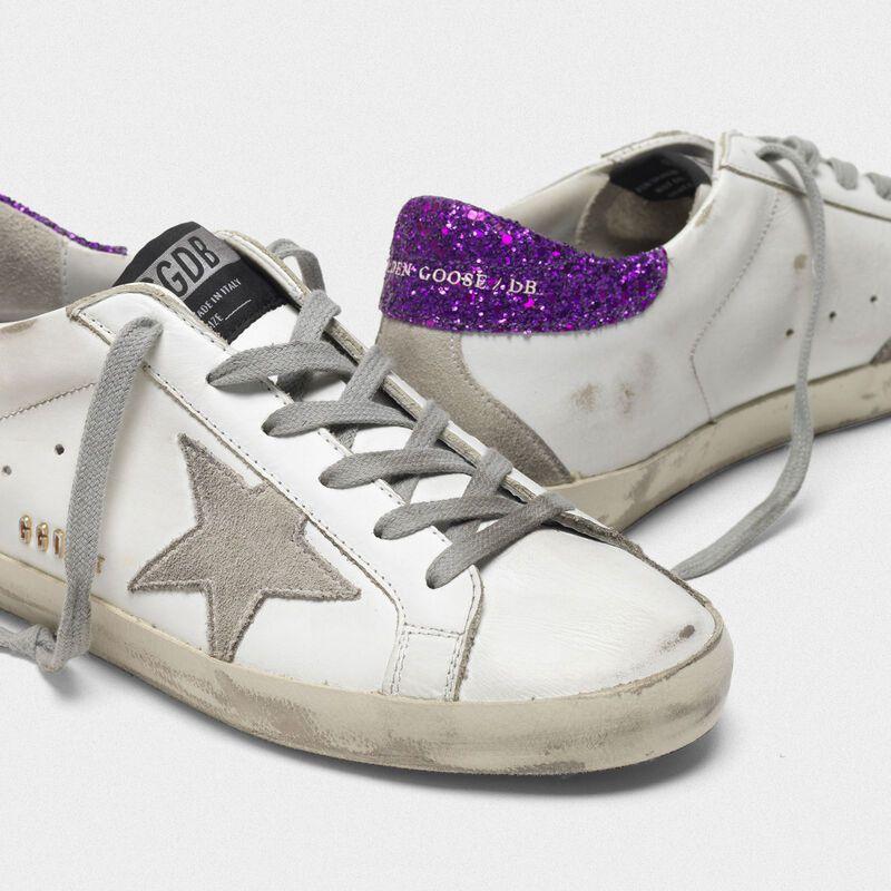 Superstar Superstar Sneakers With Glitter Heel Tab Golden Goose Deluxe Brand Sneakers Glitter Heels Womens Sneakers