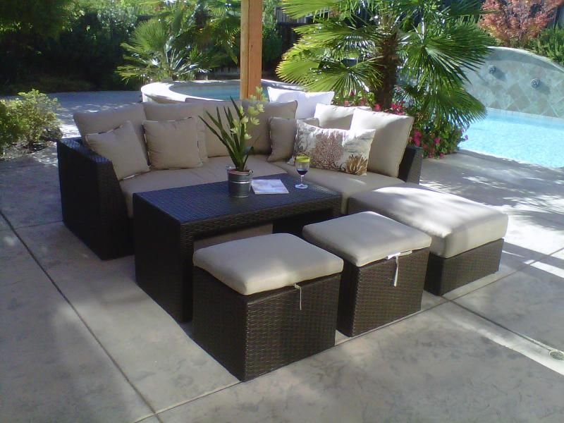 Sectional and table with additional seating, Target ... on Target Outdoor Living id=47213