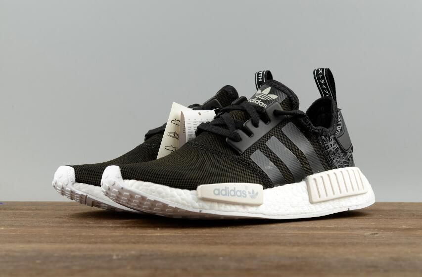 dcf0e1eb0c570 Adidas Original NMD R1 PK S76906 Black Real Boost Running Sneakers Free DHL  Shipping for Online Sale 08
