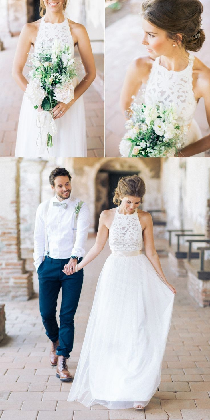 Unique style wedding dresses  Pin by Brides N Grooms on White Wedding Dresses in   Pinterest