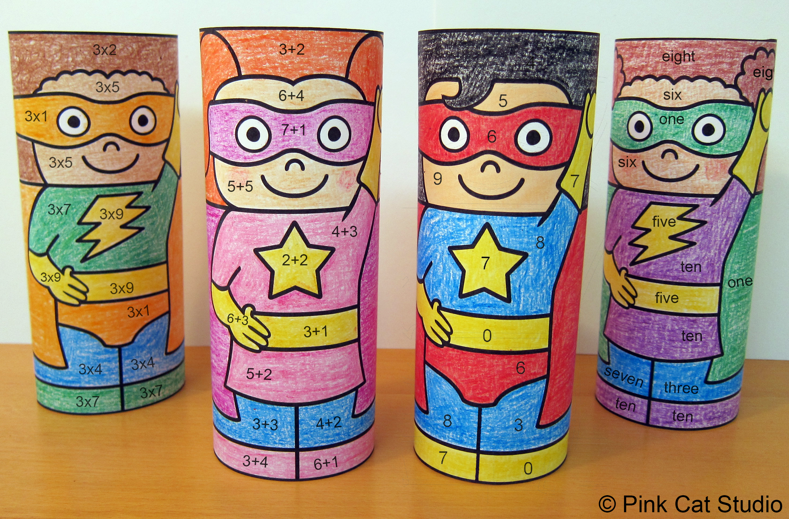 Superhero Color By Code Math Craftivity