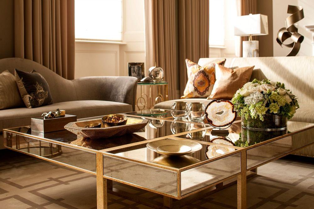 captivating jl deniot paris living room apartm | captivating square mirrored coffee table design plus ...