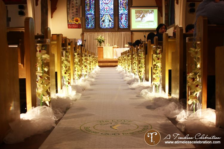 Lighted aisle decorations vases filled with water and orchids lighted aisle decorations vases filled with water and orchids montreal wedding ceremony decorations junglespirit Images