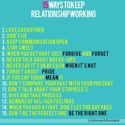 15 ways to keep relationships working