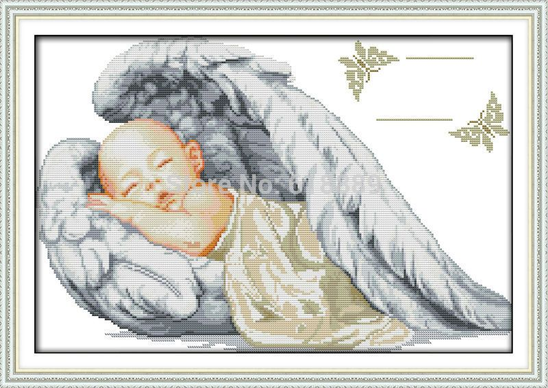 Find More Cross-Stitch Information about Little Angel Birth ...
