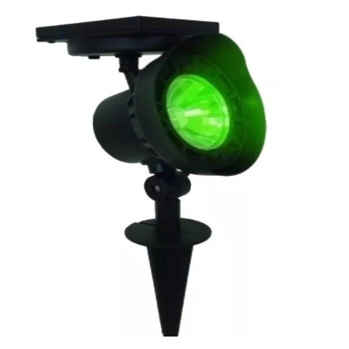 Refletor Luminária Solar Spot Verde